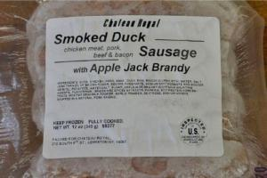 Duck Sausage with Apple Brandy