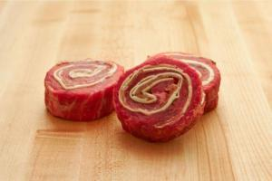 Four Beef Steak Wheels with Ham and Provolone Cheese