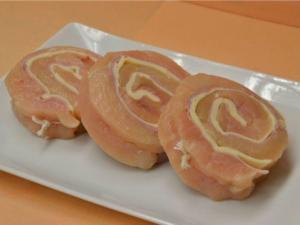 Four Chicken Wheels with Pancetta and Provolone Cheese