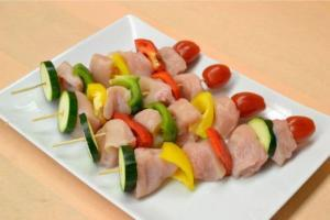 Teriyaki Marinated Chicken Kabob