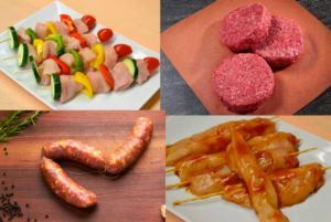 Assortment of meats for the grill