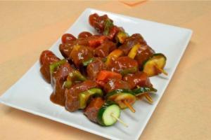 marinated beef kabob