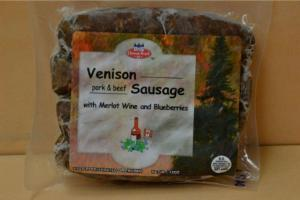 Venison pork and beef sausage
